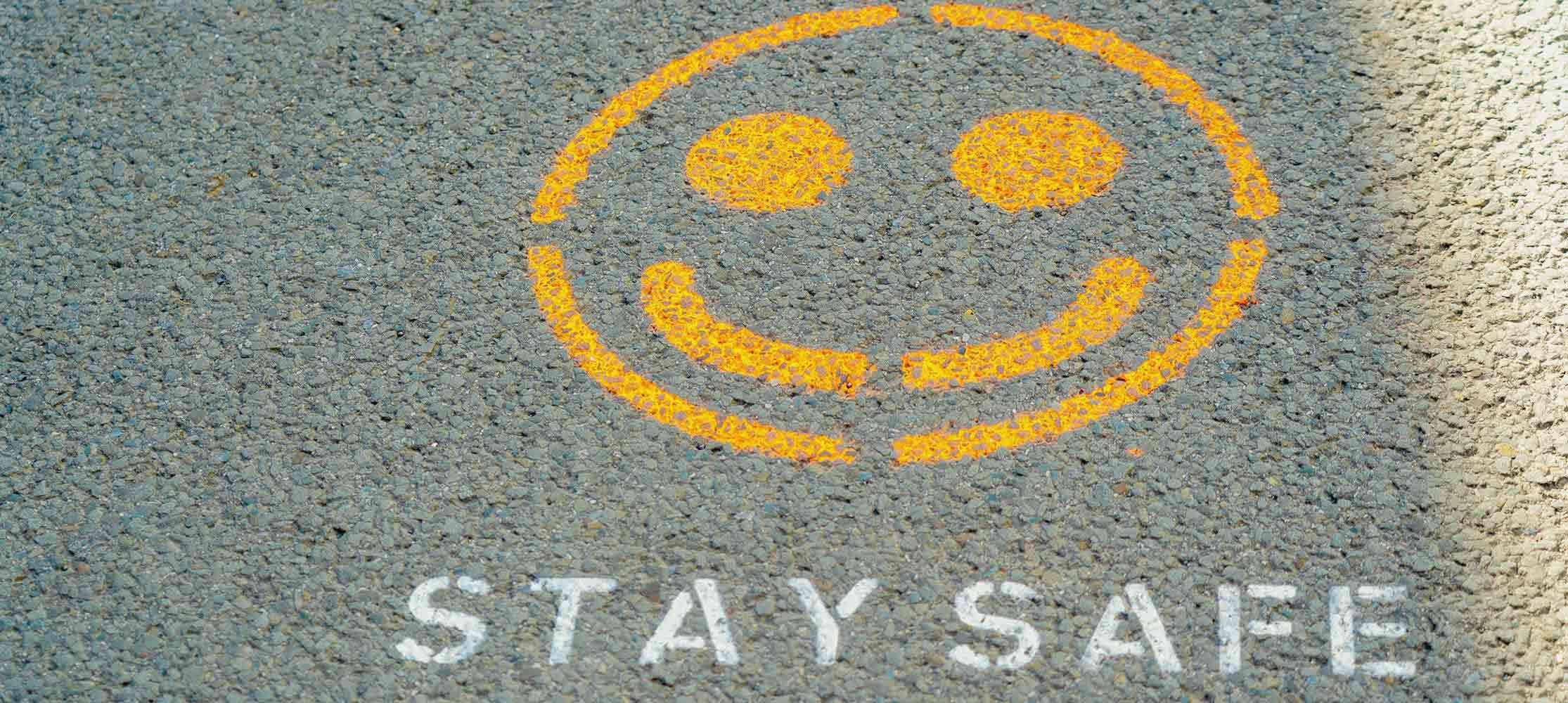 Smiley auf Straße Datenschutzerklärung