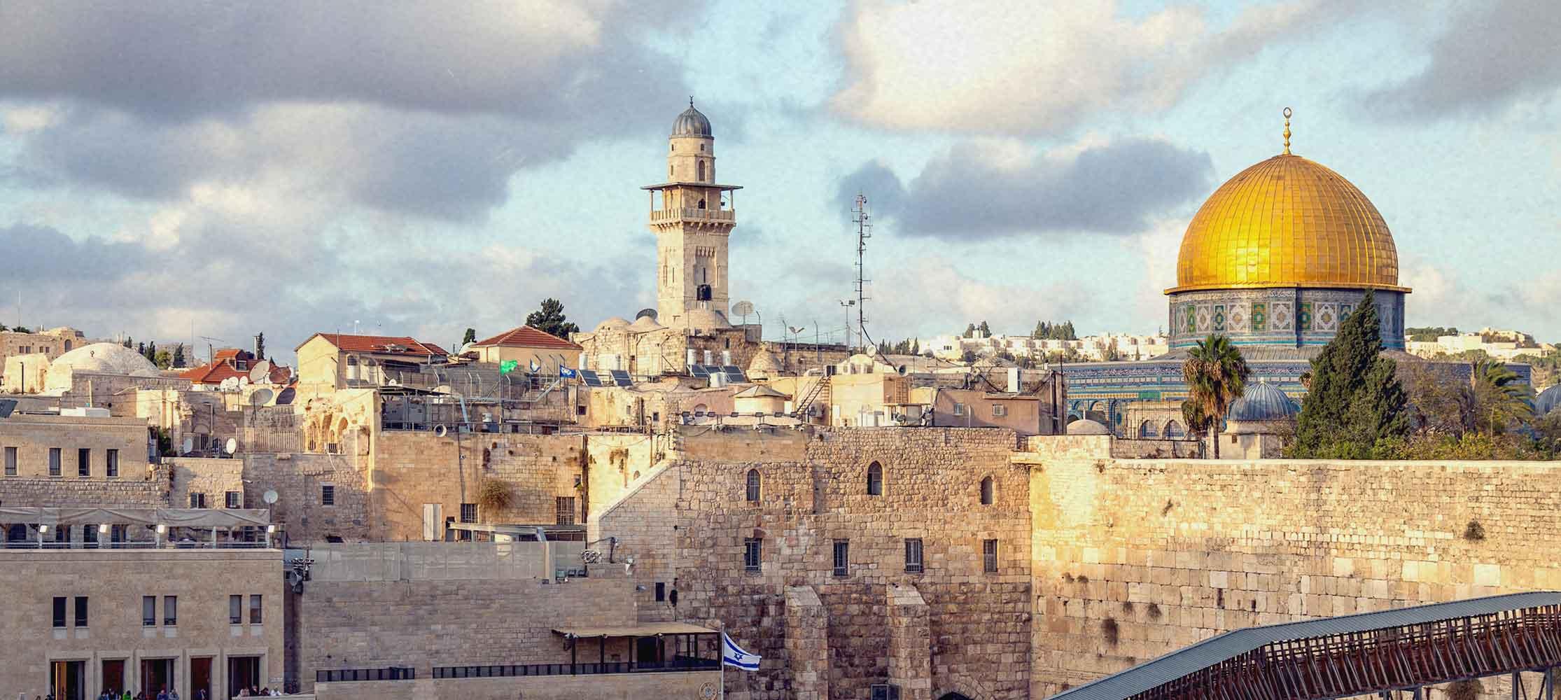 Blick auf Jerusalem Israelfreunde
